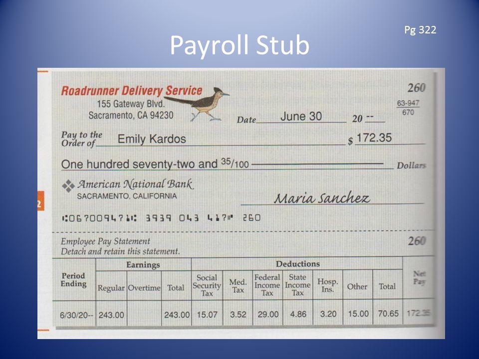 Payroll Stub Pg 322
