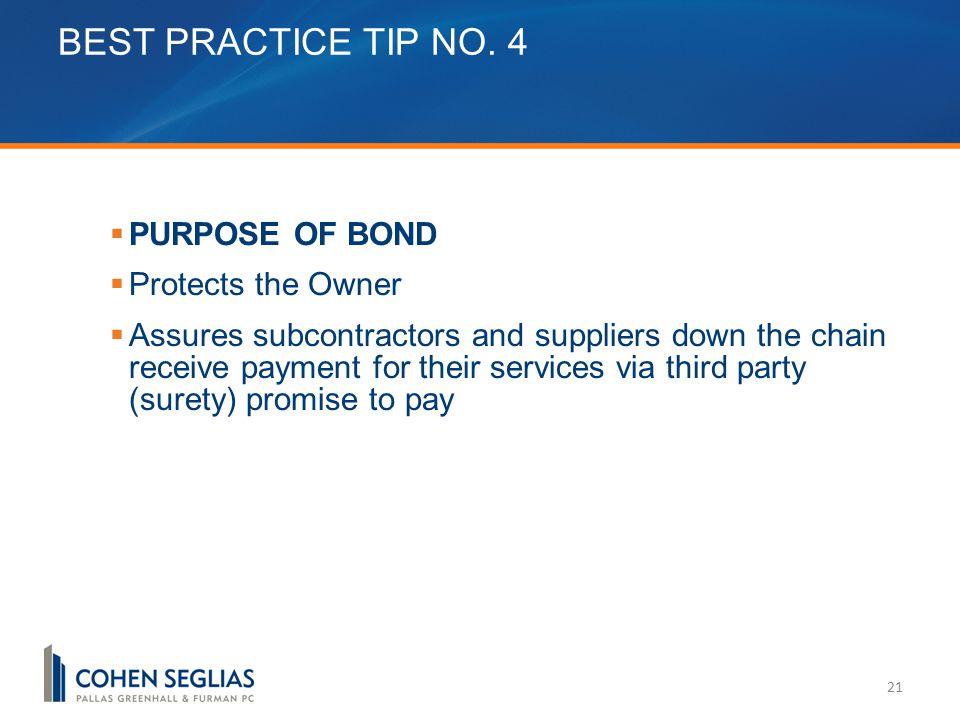 BEST PRACTICE TIP NO.