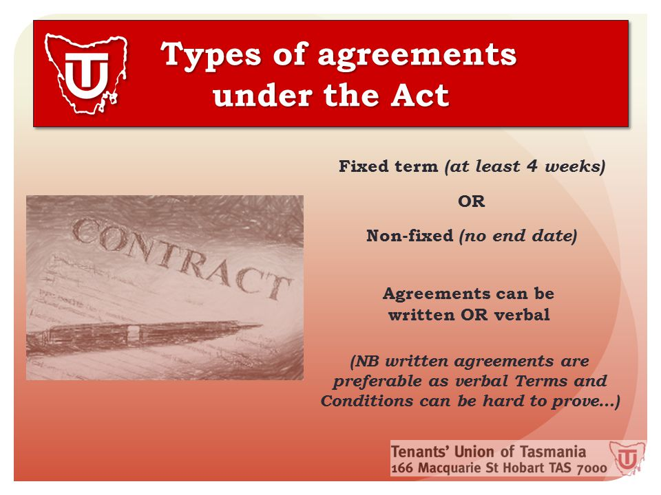 What determines the conditions of an agreement.