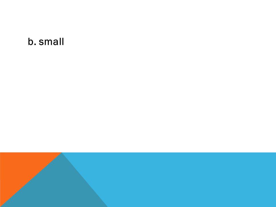 b. small