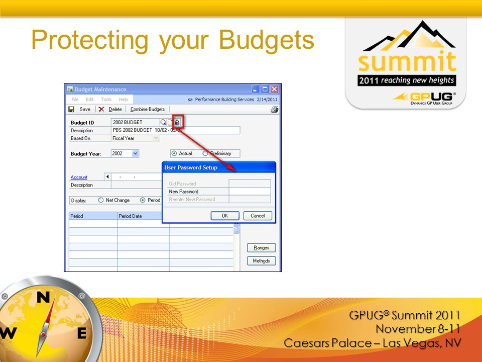 GPUG ® Summit 2011 November 8-11 Caesars Palace – Las Vegas, NV Protecting your Budgets
