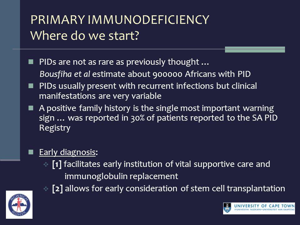 PRIMARY IMMUNODEFICIENCY Where do we start.
