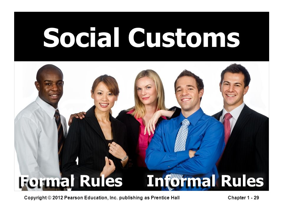 Social Customs Copyright © 2012 Pearson Education, Inc.