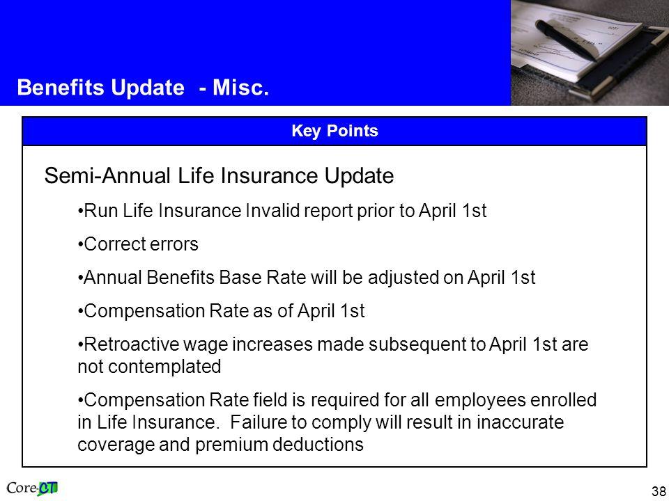38 Benefits Update - Misc.