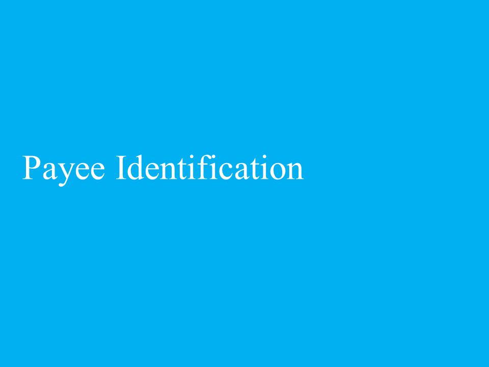 Payee Identification