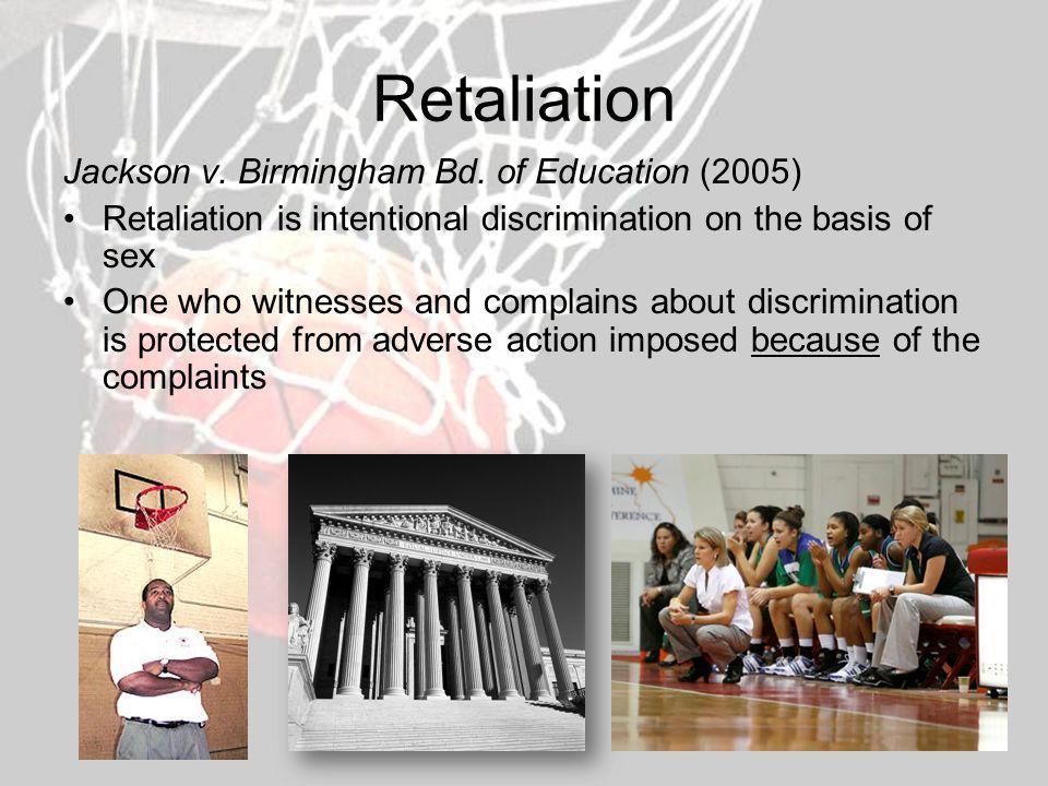 Retaliation Jackson v. Birmingham Bd.