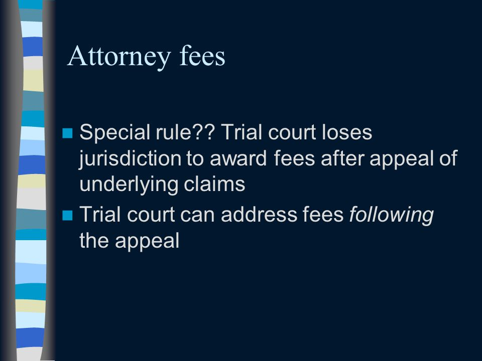 Attorney fees Special rule .