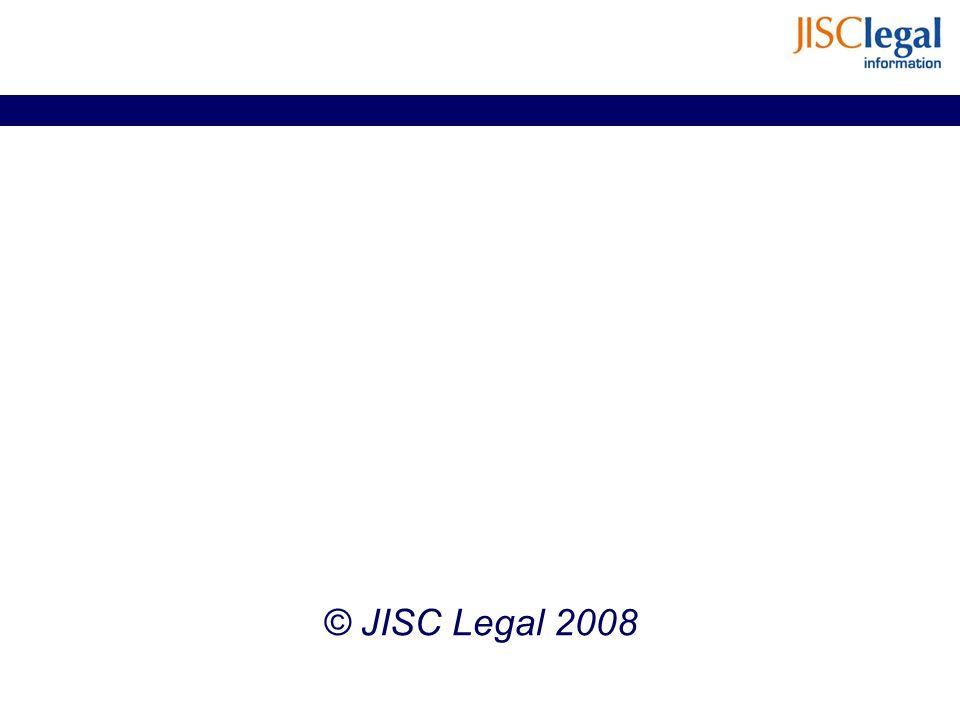 © JISC Legal 2008