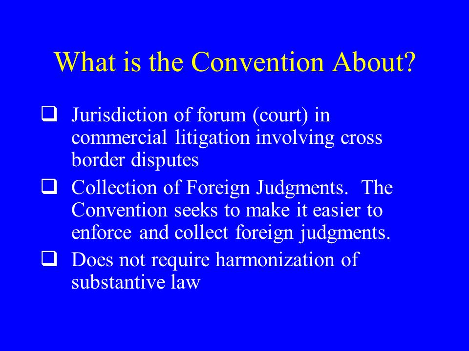 What is the Convention About.