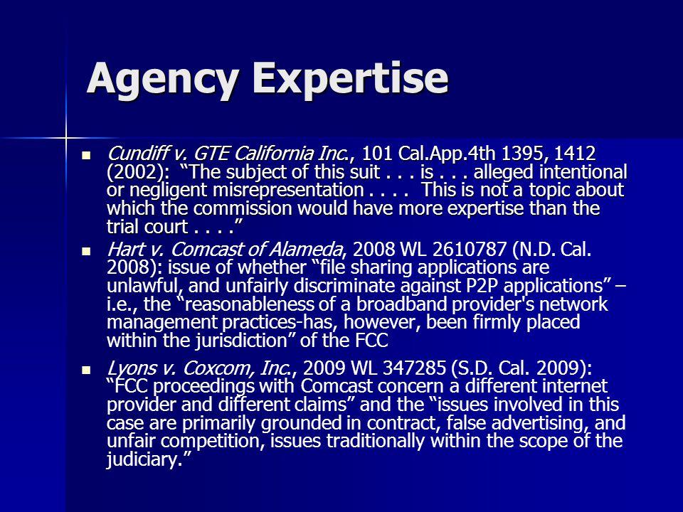 Agency Expertise Cundiff v.