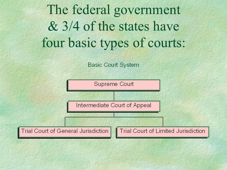 Features of the Basic Court System §These courts are arranged hierarchically and litigants who are unsatisfied with lower court decisions can appeal to higher courts, subject to special requirements and limitations.