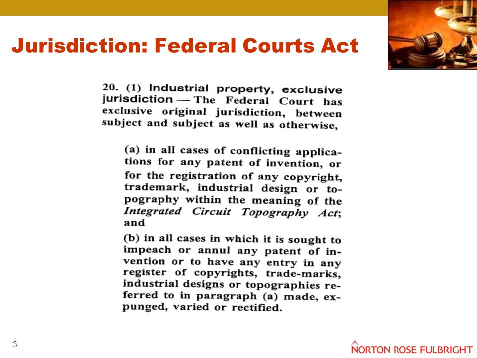 3 Jurisdiction: Federal Courts Act