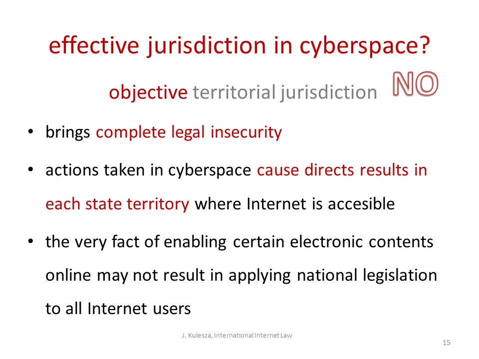 effective jurisdiction in cyberspace.