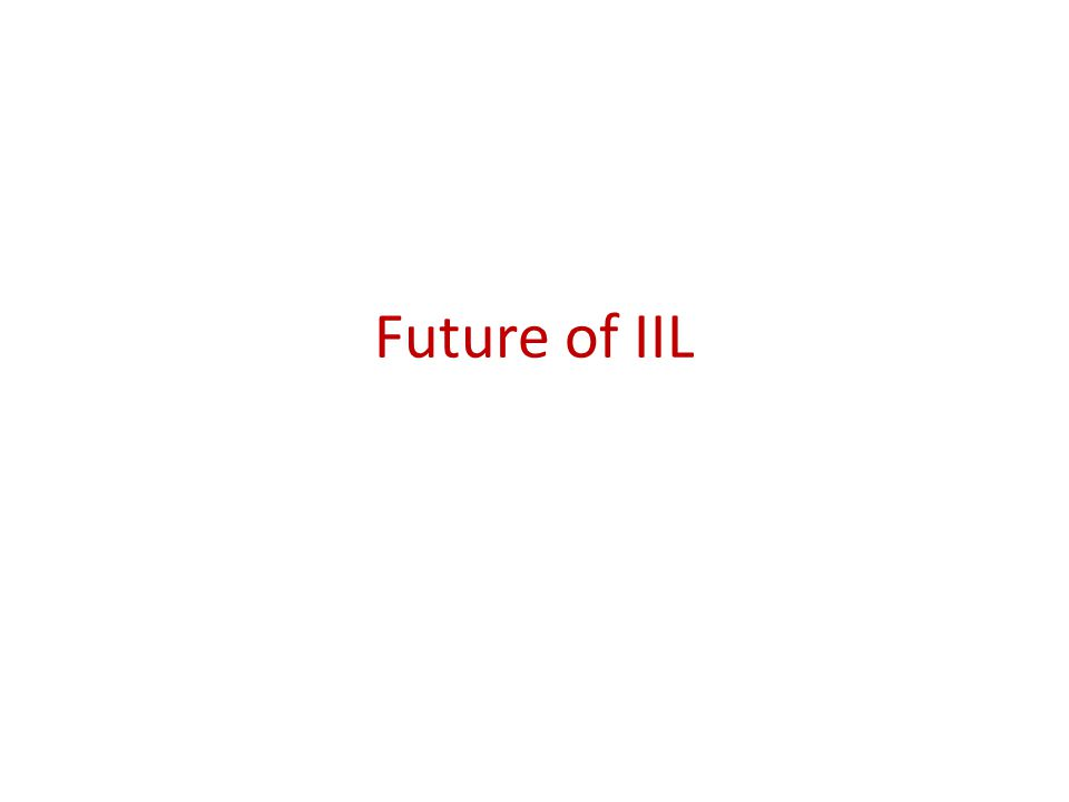 Future of IIL