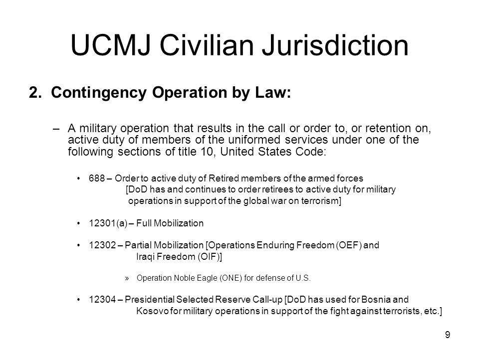 9 UCMJ Civilian Jurisdiction 2.