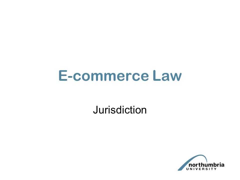 E-commerce Law Jurisdiction