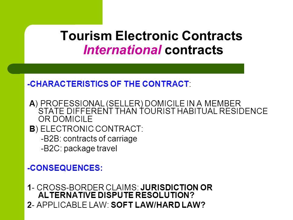 Jurisdiction B2B Contracts of carriage 1- Prorrogation of jurisdiction (art.