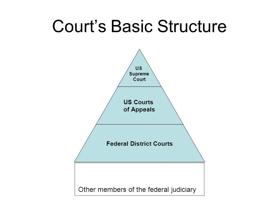 The Federal Courts Federal District Courts: –94 districts, at least one per state.