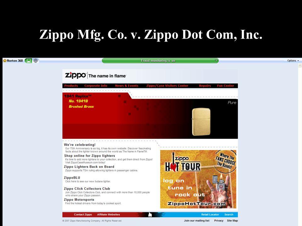 Zippo Mfg. Co. v. Zippo Dot Com, Inc.