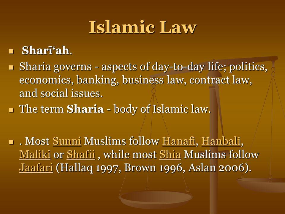Islamic Law Sharī'ah.