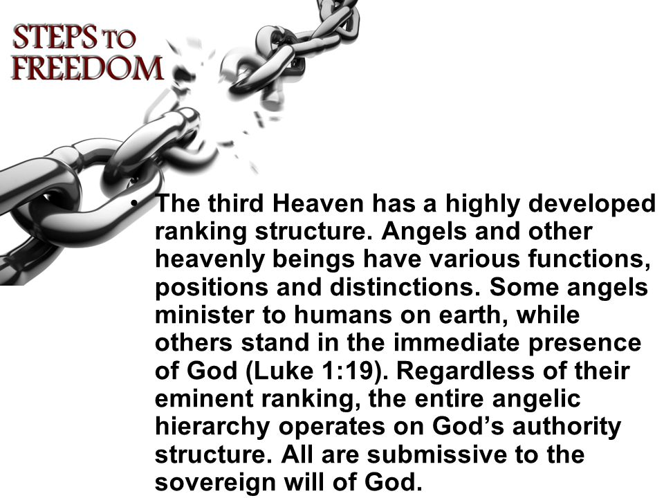 The third Heaven has a highly developed ranking structure.