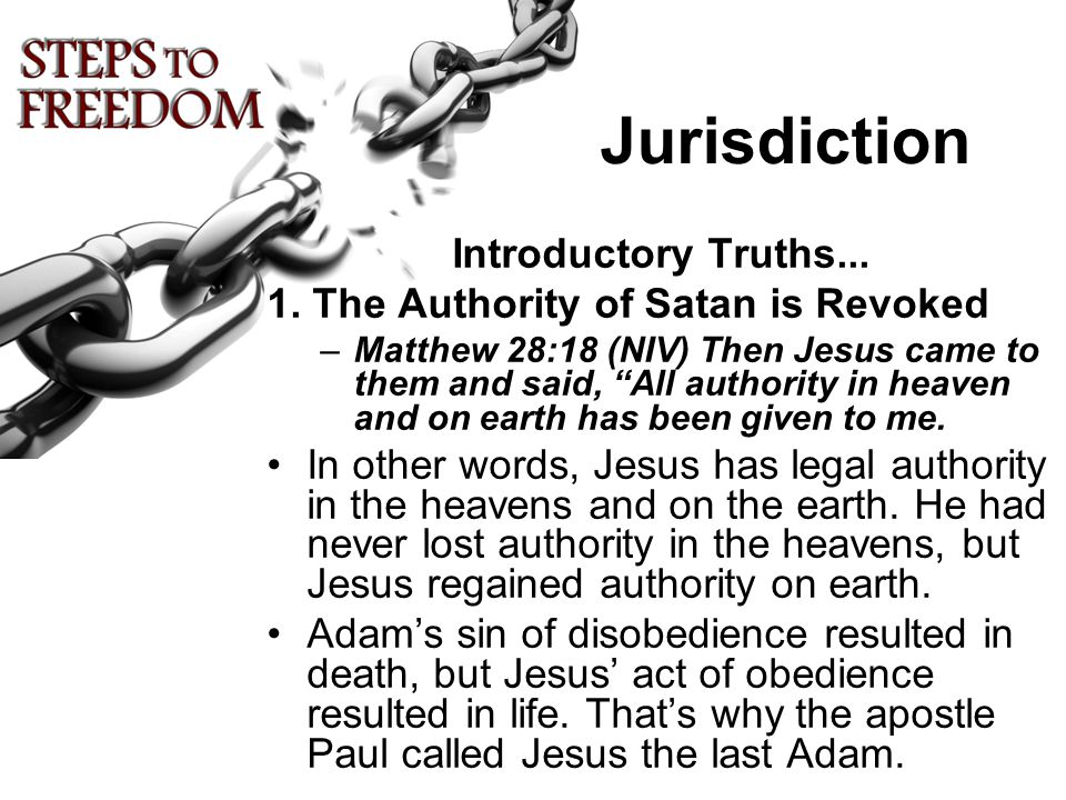 Jurisdiction Introductory Truths... 1.