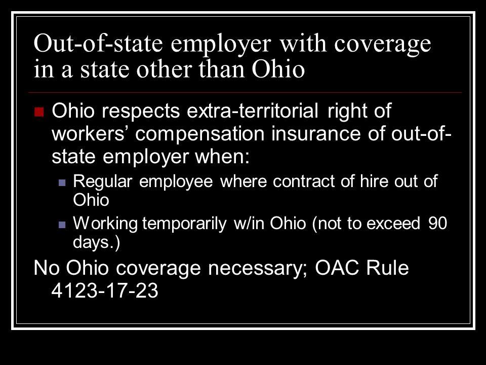 Balancing act to see whether Ohio jurisdiction applies