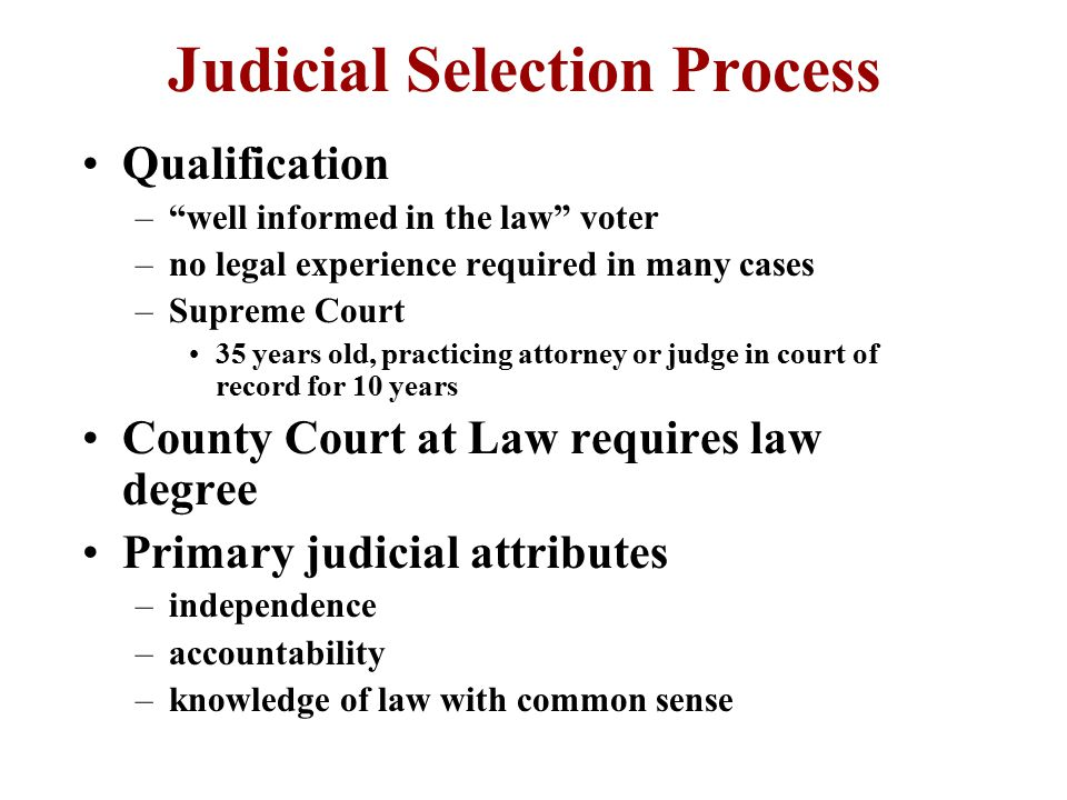 Criticisms of Current System Too many overlapping jurisdictions –lawyers can judge shop Too decentralized Courts can be simplified at local levels Retain intermediate and district levels –design court of appeal regions Merge Supreme Courts Requires amending or rewriting constitution