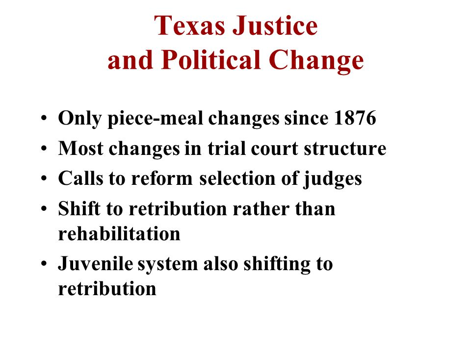 Juvenile Correction System Violent crimes by juveniles has increased Trying juveniles as adults In 1995 14 year olds treated as adults Determinate Sentencing Act –no fresh starts at 18 years old –allows transfer to adult facilities at 18 not to exceed total of 40 years –tracking gang activities now mandated