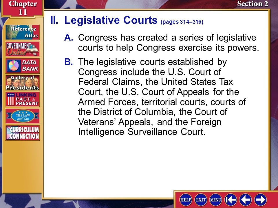 Section 2-4 I.Constitutional Courts (pages 312–314)