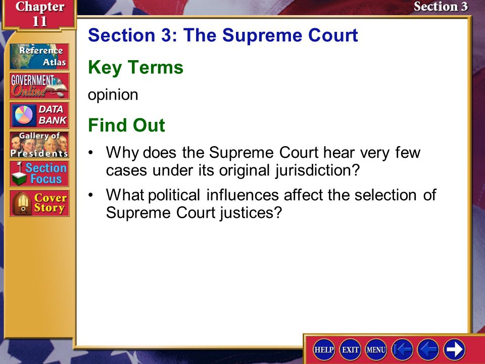 Section 2 Assessment-5 5.In what two ways do political parties influence the federal court system? Checking for Understanding Presidents choose mainly