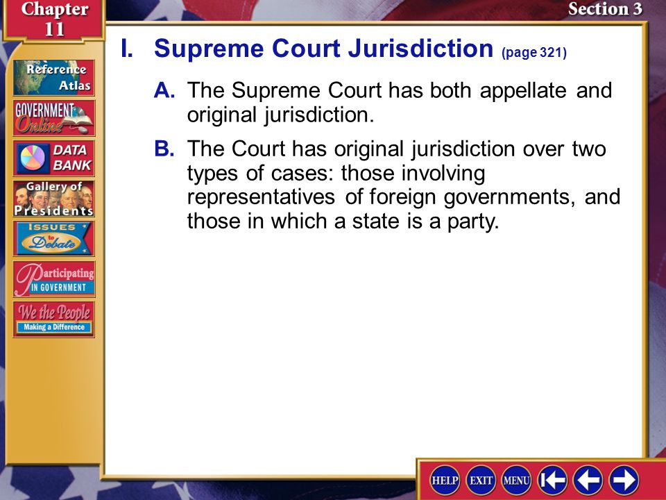 Section 3 Introduction-1 Section 3: The Supreme Court Key Terms opinion Find Out What political influences affect the selection of Supreme Court justi