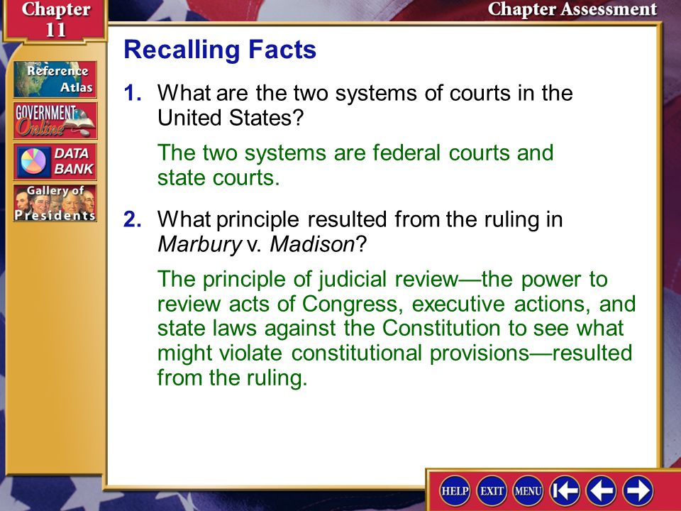 Chapter Assessment 2 Reviewing Key Terms ___grand jury ___indictment ___petit jury ___litigant riding the circuit ___concurrent jurisdiction ___appell