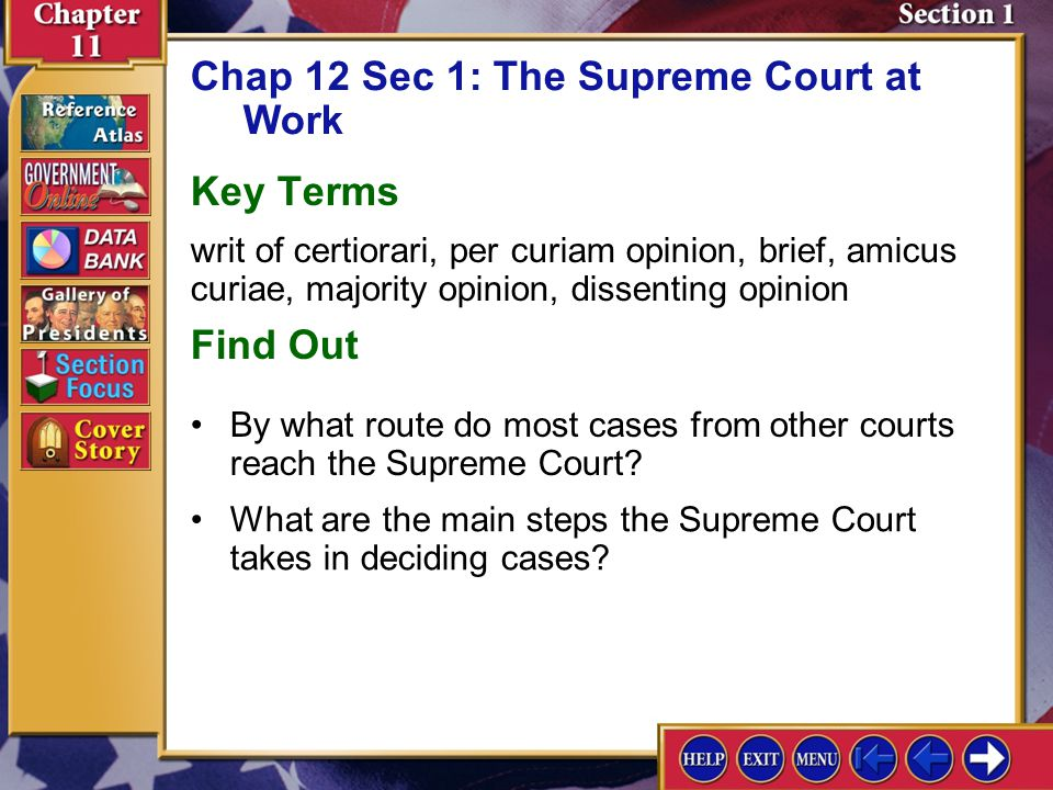 Chapter Assessment 6 7.What are three duties of the chief justice of the United States? Recalling Facts Duties of the chief justice of the United Stat