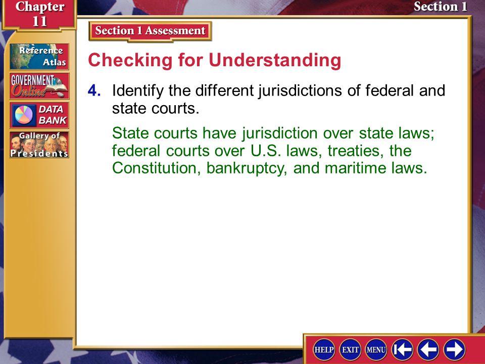 ___concurrent jurisdiction ___original jurisdiction ___appellate jurisdiction ___litigant ___due process clause Section 1 Assessment-2 A.states that n
