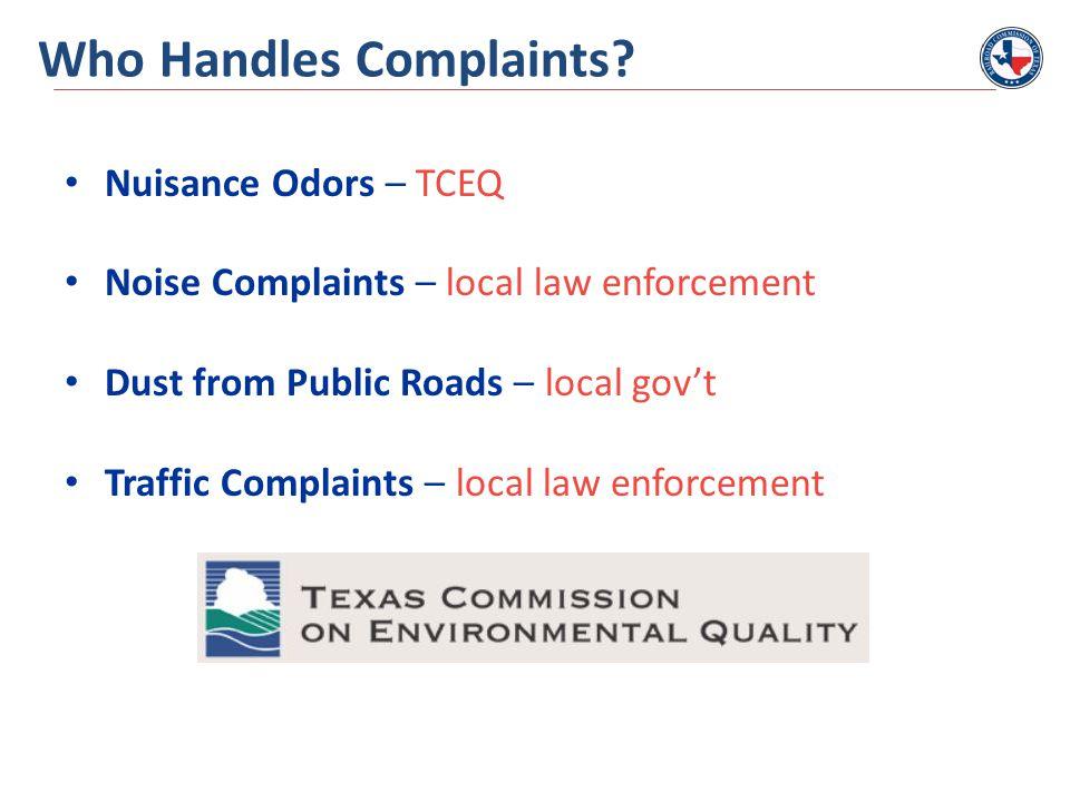 Who Handles Complaints.