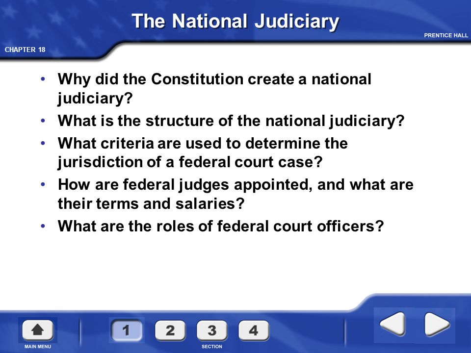 CHAPTER 18 The District Courts Federal Judicial Districts The 94 federal judicial districts include at least one district in each State, the District of Columbia, and Puerto Rico.