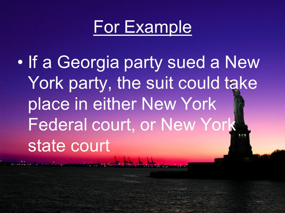 Interrelations of Courts It is often argued as to whether a case belongs in State or Federal court State appeals which lead to dissent are heard in the Federal courts