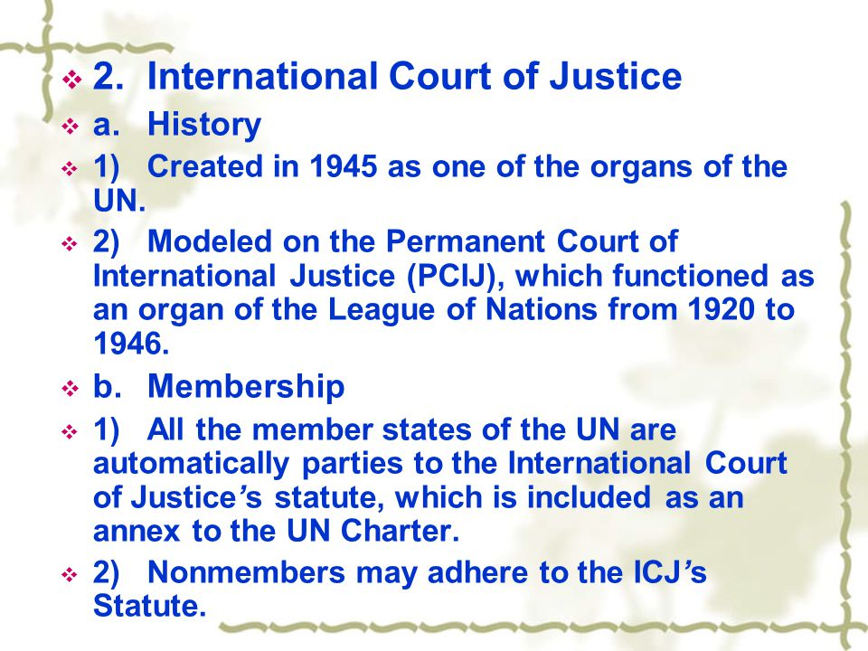  c.Kinds of judgments that can be handed down by the ICJ.