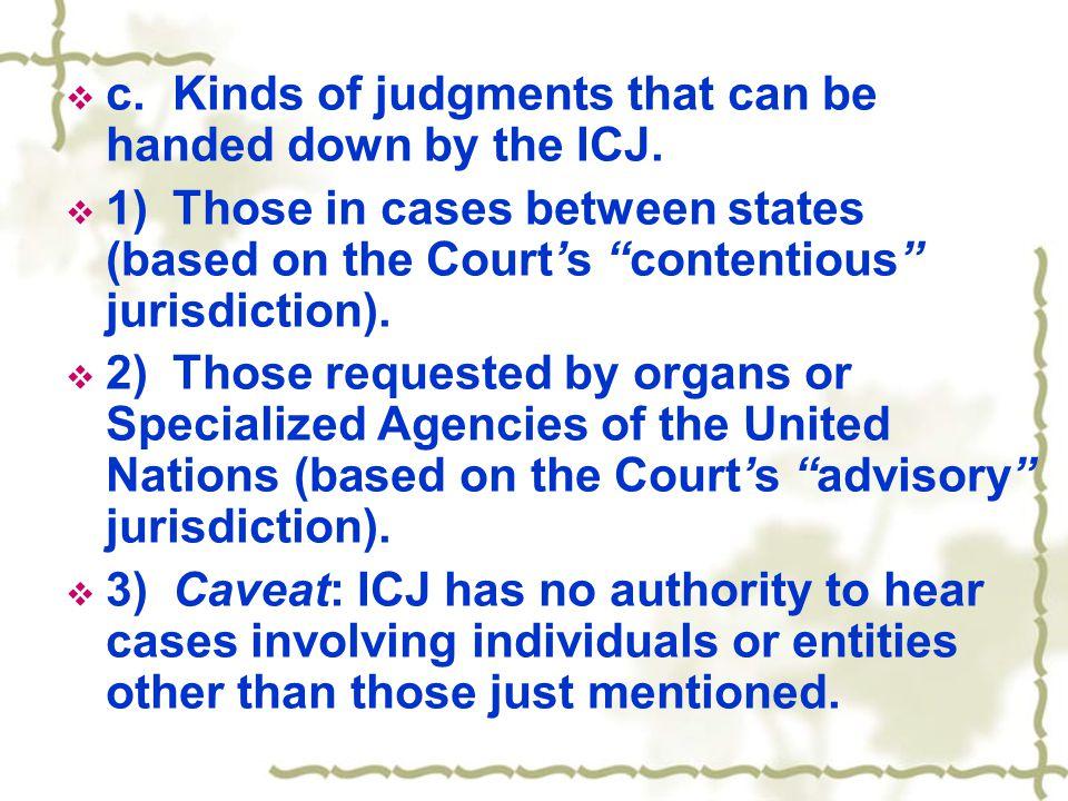  d.Contentious Jurisdiction.