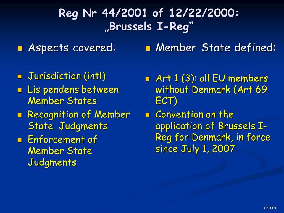 Special Jurisdiction (Art 5) General Prerequisite Art 5 s 1 General Prerequisite Art 5 s 1 Why special Jurisdictions.