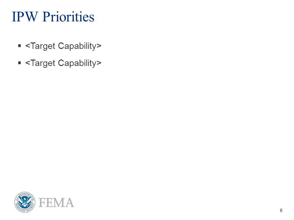 6 IPW Priorities  
