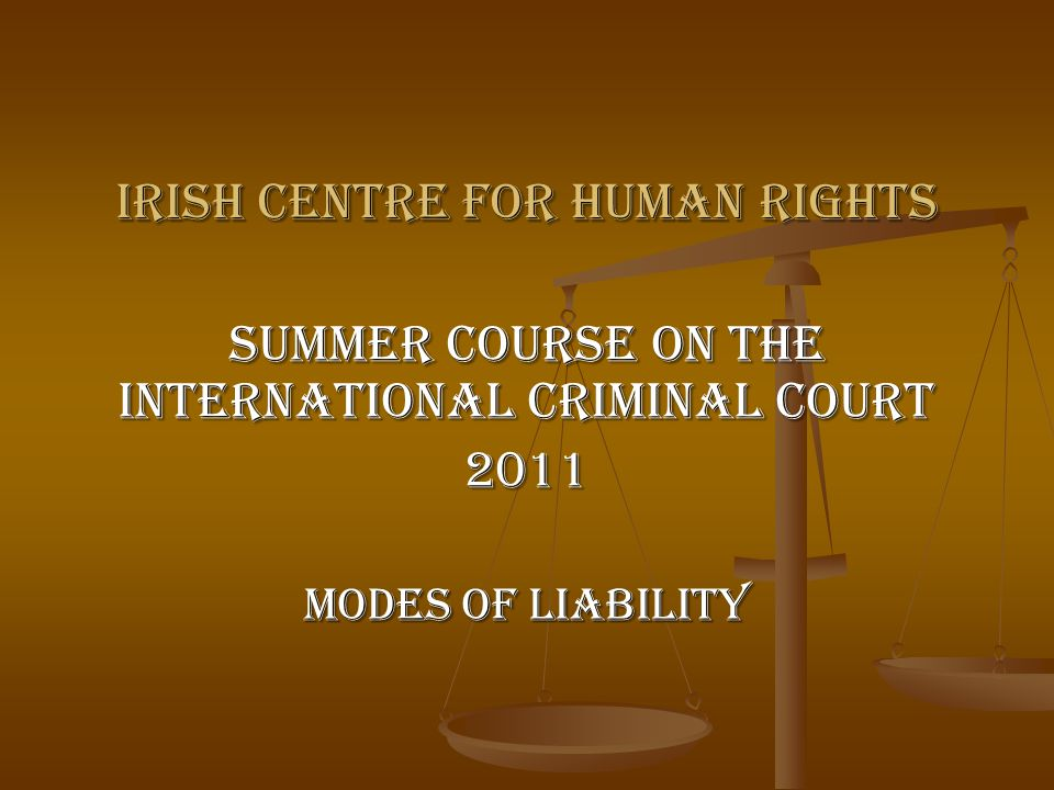 12 Individual Liability Additionally, by holding individuals responsible for the crimes committed, it was hoped that a particular ethnic or religious group (or even political organisation) would not be held responsible for such crimes by members of other ethnic or religious groups, and that the guilt of the few would not be shifted to the innocent. Prosecutor v.
