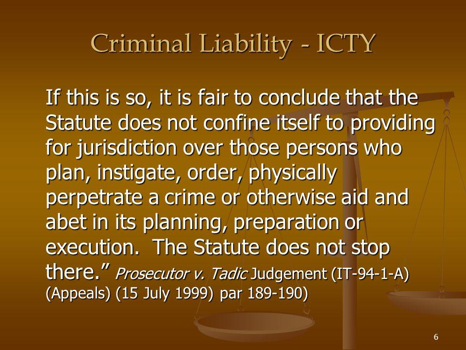 37 Joint Criminal Enterprise Three classes of JCE: 1.