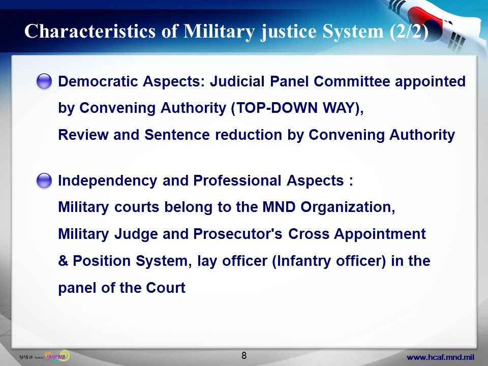 www.hcaf.mnd.mil 19 Final Disposal of Military Prosecutor Various Kinds of Contents of Final Disposal Who has authority to make the final decision concerning above process.