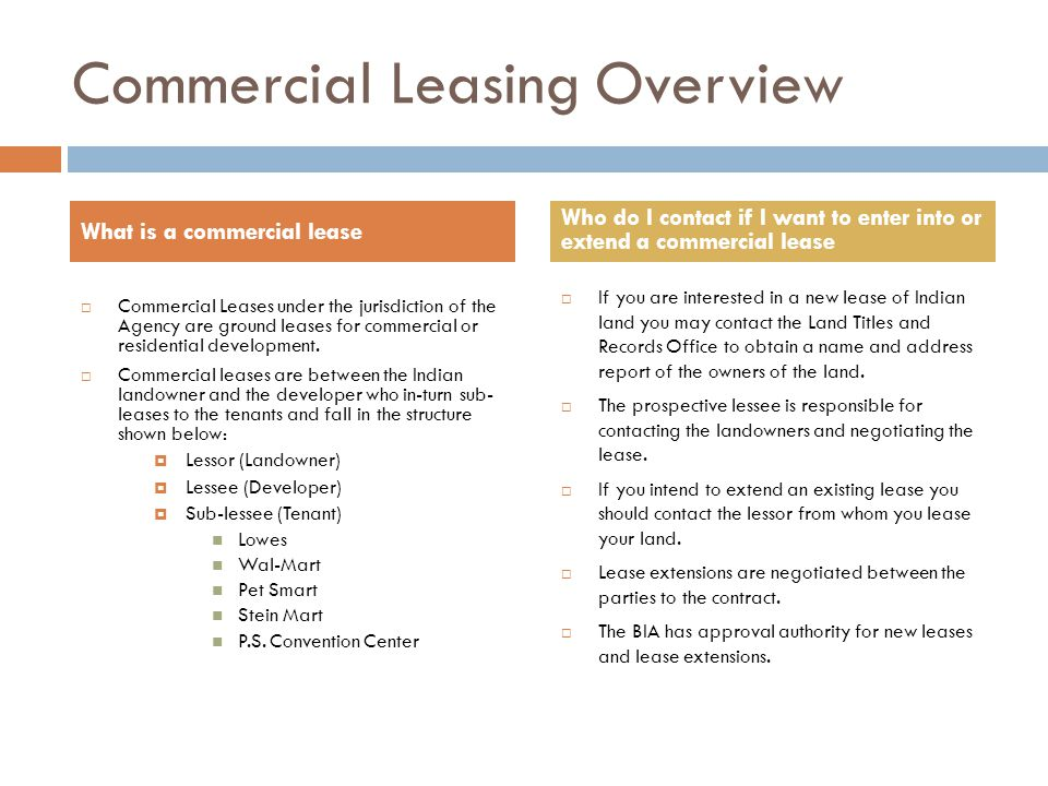 Residential Leasing Overview  Residential leases under the jurisdiction of the Agency are leases of a single family residences.
