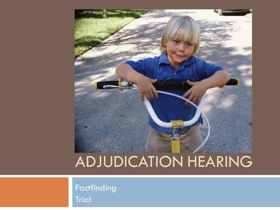 ADJUDICATION HEARING Factfinding Trial