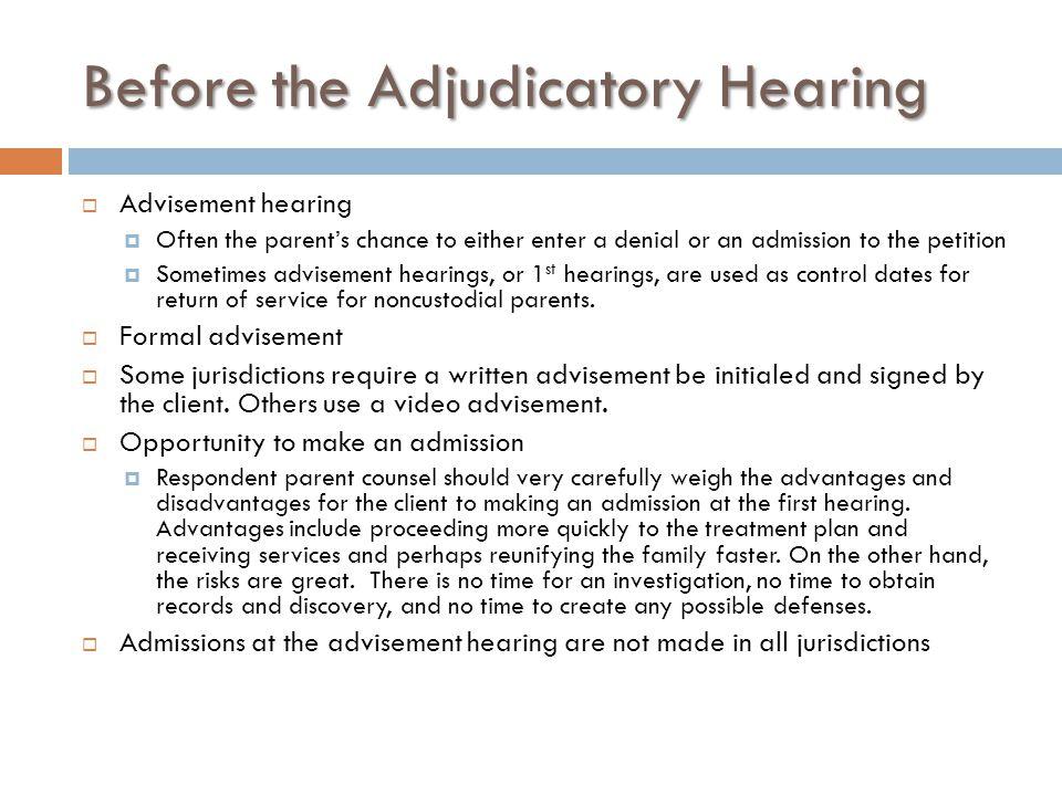 Jury Trial  Colorado permits jury trials for adjudication hearings.