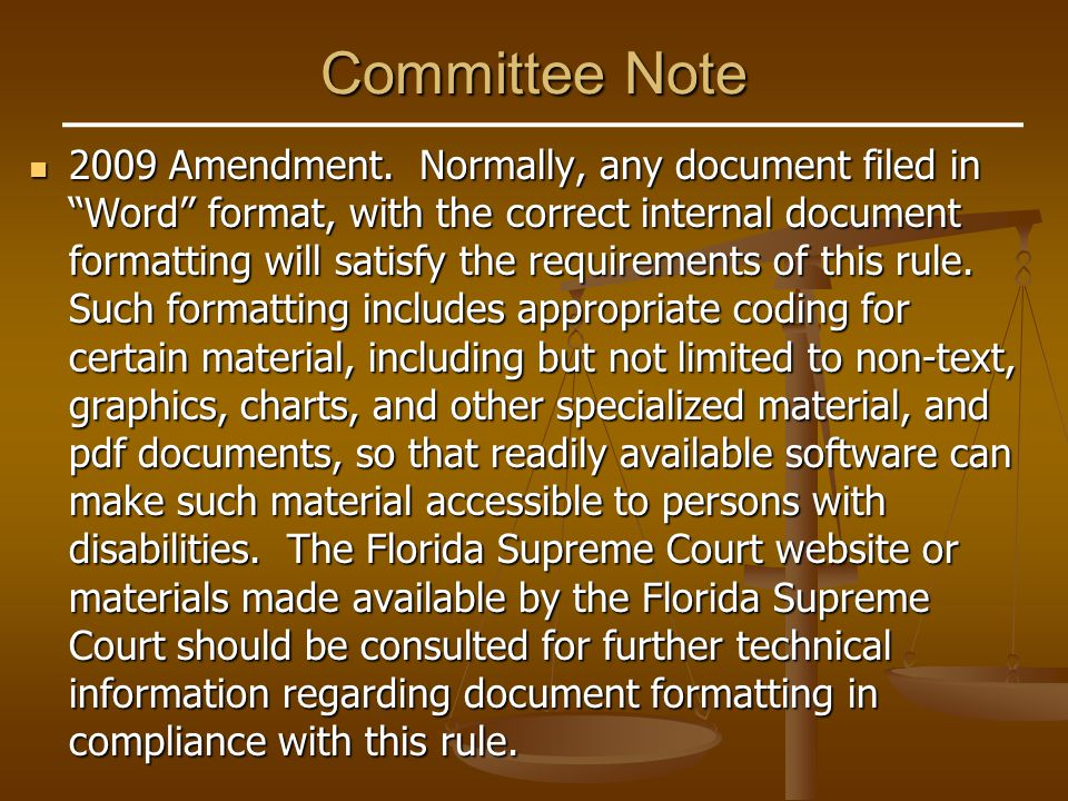 Committee Note 2009 Amendment.
