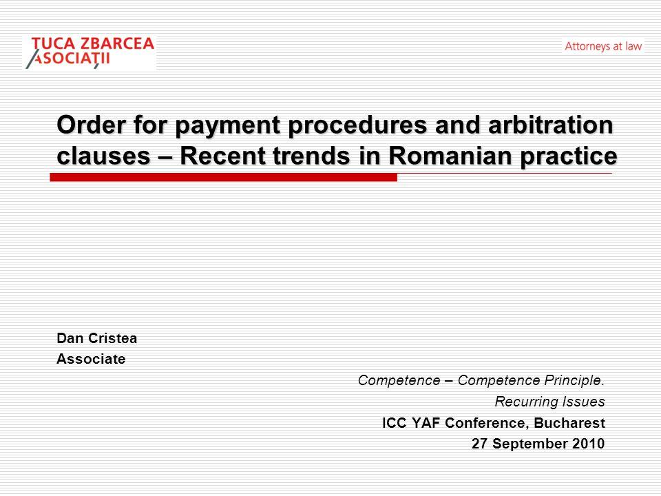 Applicable legislation Romanian Civil Proceedings Code Government Ordinance no.